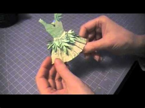 How To Make Paper Fairies - paper couture 8 green paper dress