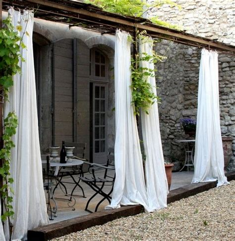 Curtains On Patio How To Add Privacy And Make A Statement With A Curtain Wall