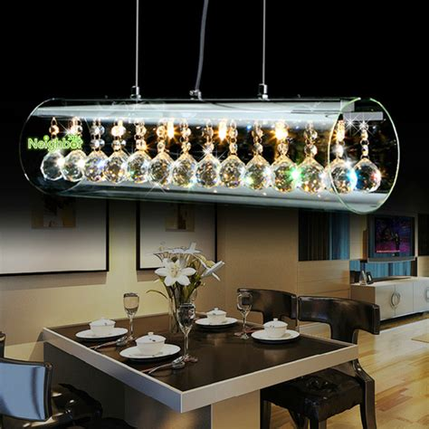 New Modern Crystal Led Pendant Light For Home Suspension Hanging Dining Room Lights