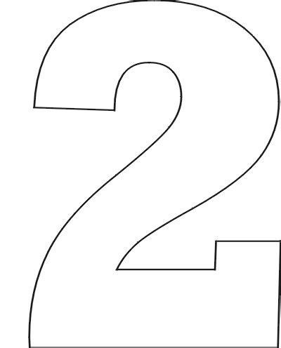 number 2 template number 2 stencil clipart best