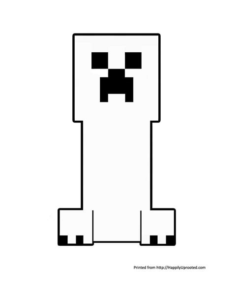 Creeper Coloring Pages free creeper ausmalbilder coloring pages