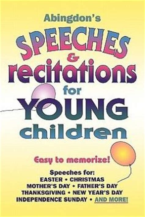 Printable Christmas Recitations | abingdon s speeches recitations for young children by
