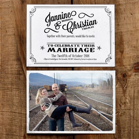 Postcard Wedding Invitations by Vintage Photo Postcard Wedding Invitation Feel
