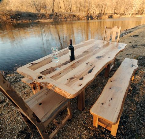 rustic dining table with bench rustic outdoor dining table set with bench with wine river