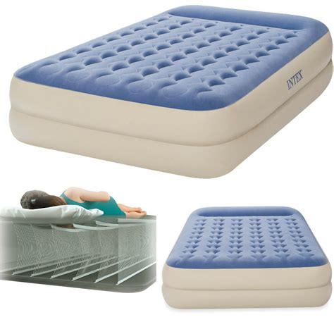air mattress 16 quot raised pillow aerobed intex dura beam bed 3530030141093 ebay