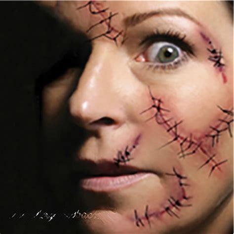 halloween stitches tattoo sheet of 6 redeem source