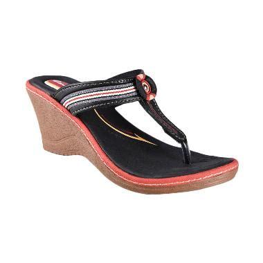 Sandal Wanita Carvil Resort 03 Black jual carvil casual cloth 03l sandal wanita black