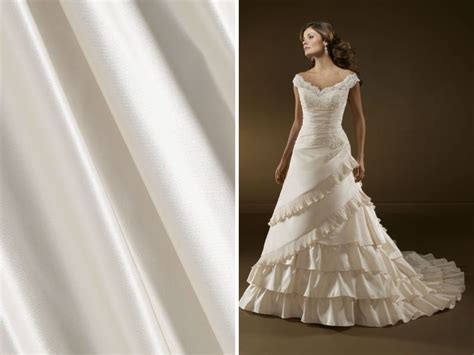 list trendiest wedding dress material and fabrics
