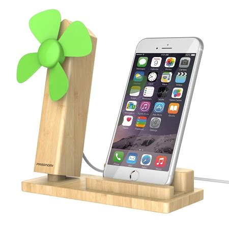 wood iphone stand with usb fan pasonomi cell phone stand holder with cooling usb fan for iphone