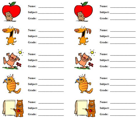 Back To School Labels Archives Tower Products School Book Labels Template