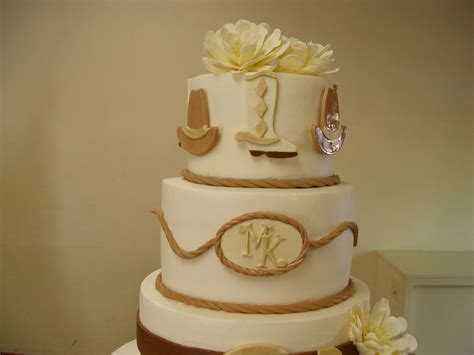 Western Cake Decorations by Western Theme Wedding Cake Cakecentral