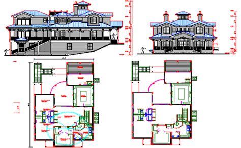villa layout dwg villa architecture plan dwg file