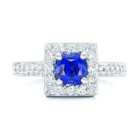square halo engagement ring 100361