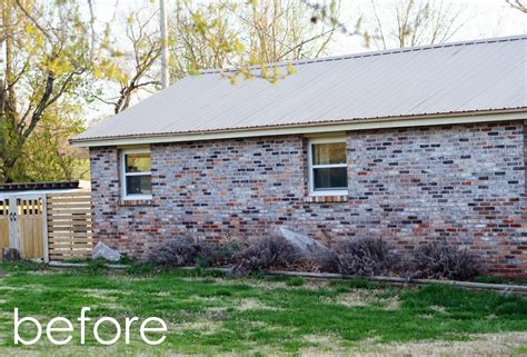 natalie creates exterior house renovation progress painted brick
