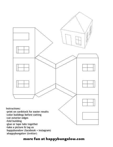 house template paper house template pictures to pin on pinterest pinsdaddy