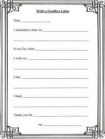 goodbye letter template for grief goodbye letter template counseling child