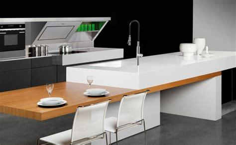 cuisine blanc laqué plan travail bois photo cuisine avec plan de travail moderne en 65 id 233 es