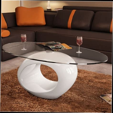 table basse verre noir fly table basse blanche laque