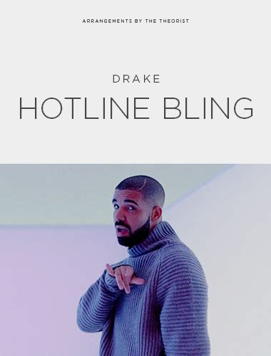 hotline bling drake cover drake quot hotline bling quot sheet music freebird notes