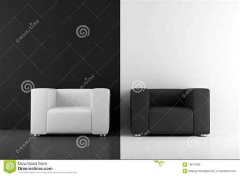 black and white armchairs royalty free stock images