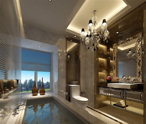 Luxury Bathroom Interior Design by Five Hotel Luxury Bathroom Interior Design 3d House
