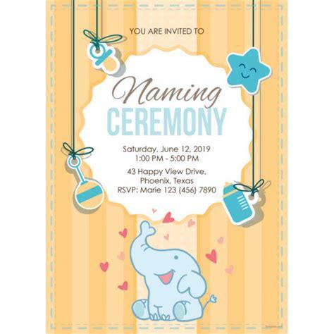 35 Naming Ceremony Invitations Psd Ai Free Premium Templates Free Invitation Templates For Naming Ceremony
