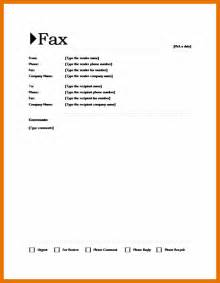 fax cover sheet template microsoft word 7 microsoft word fax cover sheet itinerary template sle