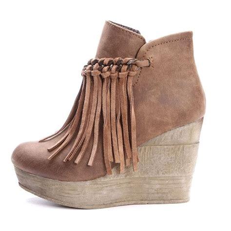 sbicca fringe boots sbicca zepp wedges sbicca womens zepp fringe ankle boots