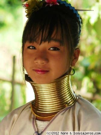 imagenes mujeres jirafa que guapa fotos de tailandia losviajeros