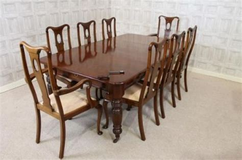Edwardian Dining Table And Chairs Edwardian Extending Dining Table And Set Of Eight Style Dining Chairs 261630