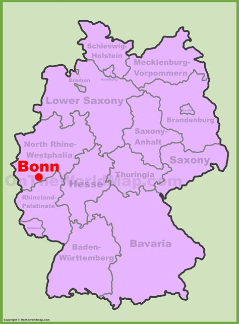 on the map bonn location on the germany map