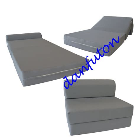 Foam Folding Bed Gray Size Sleeper Chair Folding Foam Bed 1 8 Lbs Density Foam Sofa Beds Ebay