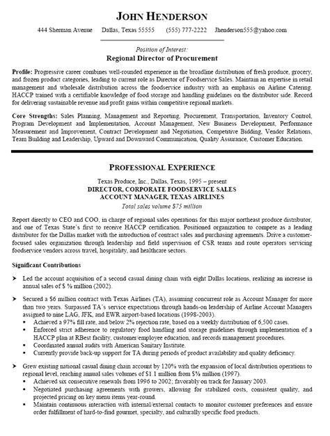 Procurement Resume by Resume Sle For Procurement Search Tipsresume