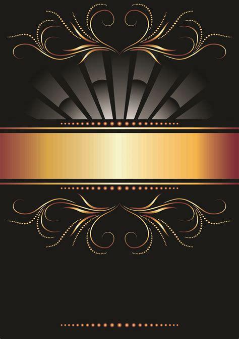 Wallpaper Black Gold Design