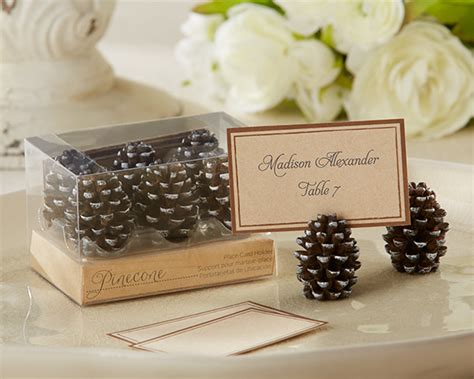 place card holder ideas pinecone place card holders rustic wedding decorations ideas