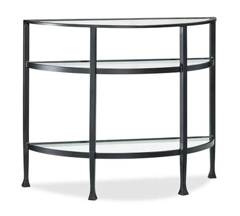 demilune console table demilune console table bronze finish pottery barn