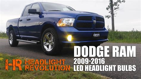 2013 dodge ram 1500 fog light bulb size led headlight bulb upgrade kit for 2009 2016 dodge ram