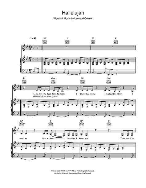 testo hallelujah rufus wainwright hallelujah live noten leonard cohen klavier gesang