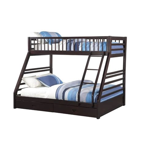 twin xl over queen bunk bed twin over queen bunk beds acme furniture jason xl bed in