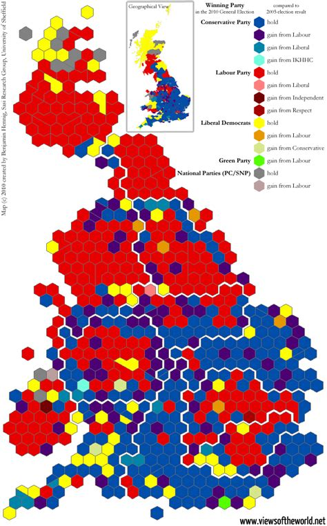 map uk election results general election 2010 the swings that did matter views