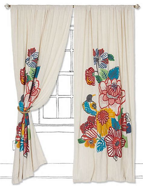 eclectic window curtains botanica curtain eclectic curtains by anthropologie