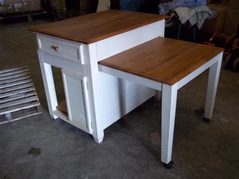 desk with slide out table whitevan