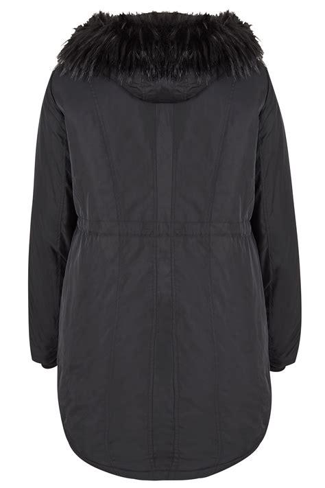 Padded Parka black padded parka coat plus size 16 to 36
