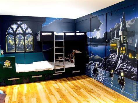 bedroom murals uk harry potter painted furniture harry potter mural