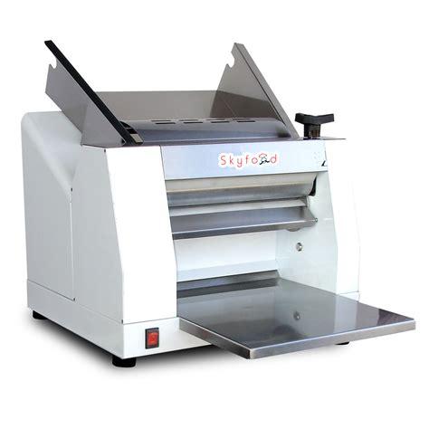 bench top dough sheeter skyfood clm 400 single pass table top dough roller
