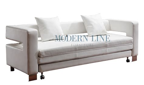 Modern Sofa Bed Sleeper White Leather Sleeper Sofa Thesofa