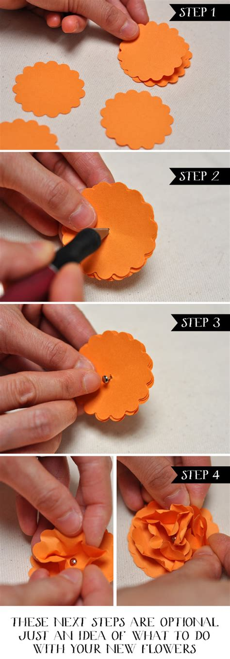 Easy Steps To Make A Paper Flower - easy diy paper flowers smitten on paper