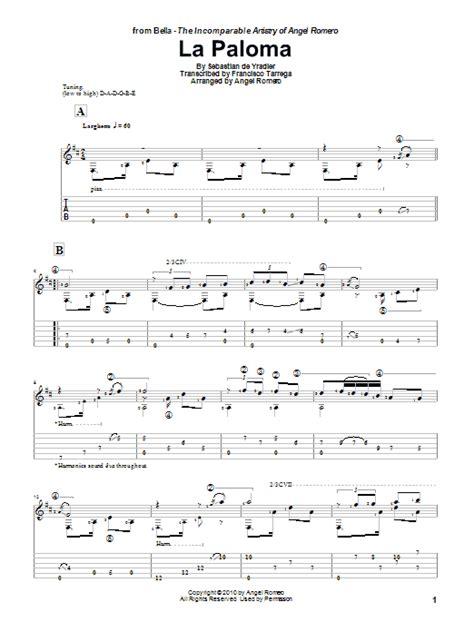 tutorial piano la paloma la paloma sheet music direct