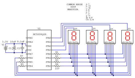 common anode cathode led display arduino uno how to display a number using sevseg library on 4 digit 7 segment led display