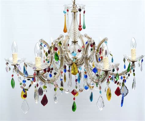 multi coloured glass chandelier the vintage chandelier companymulti coloured archives